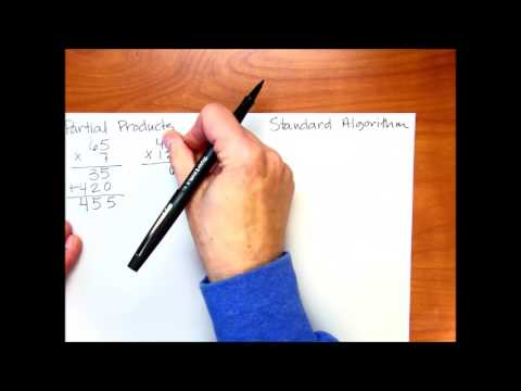 Partial Products Vs Standard Multiplication Algorithms