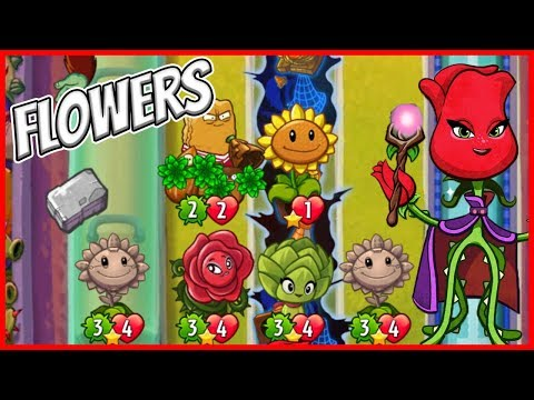 Rose and the Flower Pop Girls - Plants vs Zombies Heroes Gameplay