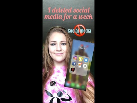 I DELETED SOCIAL MEDIA FOR A WEEK CHALLENGE + my first vlog