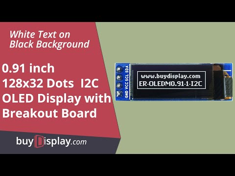 "I2C White 0.91"" inch OLED Display Module 128x32 for Arduino,Raspberry Pi"
