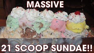 ENORMOUS Ice Cream Sundae Challenge (Surprise Finish!!)