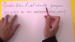 Ekstremum Noktalar Şenol Hoca Matematik