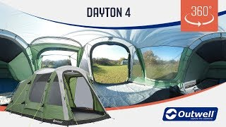 Outwell Dayton 4 Tent - 360 video (2019)