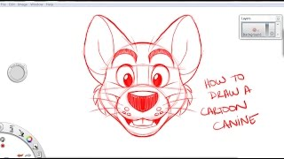 How to draw a toony canine: Tutorial