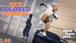 GTA 5 ONLINE GLITCH . HOW TO GET RARE COLORED JOGGERS . MAKE MODDED OUTFITS . AFTER PATCH 1.44