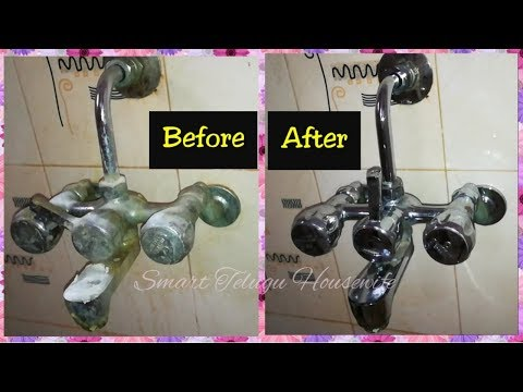 BATHROOM CLEANING TIPS| HOW TO CLEAN BATHROOM TAPS, SHOWER TAPS, HOWTO REMOVE SALT DEPOSITS FROM TAP