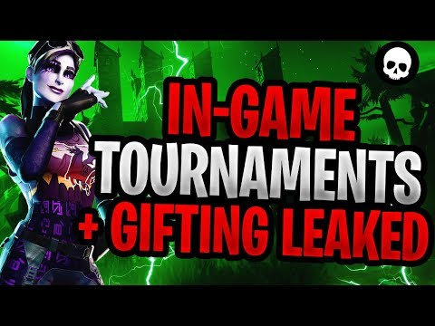 In-Game Fortnite Tournaments + Gifting System LEAKED! (RELEASE DATE + REWARD INFO)