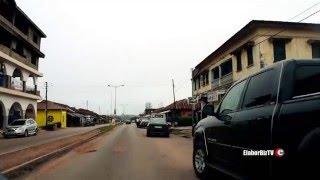 Driving into Sunyani the Capital of Brong Ahafo Region Ghana