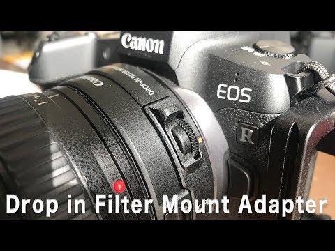 【カメラ】EOS R用 ドロップインフィルターマウントアダプター速攻開封!