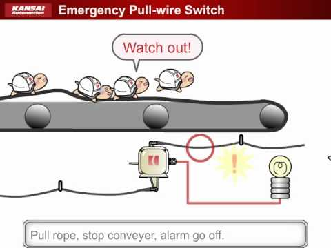 hqdefault equipment for conveyor lines (emergency pull wire switch) youtube pull cord switch wiring diagram at virtualis.co