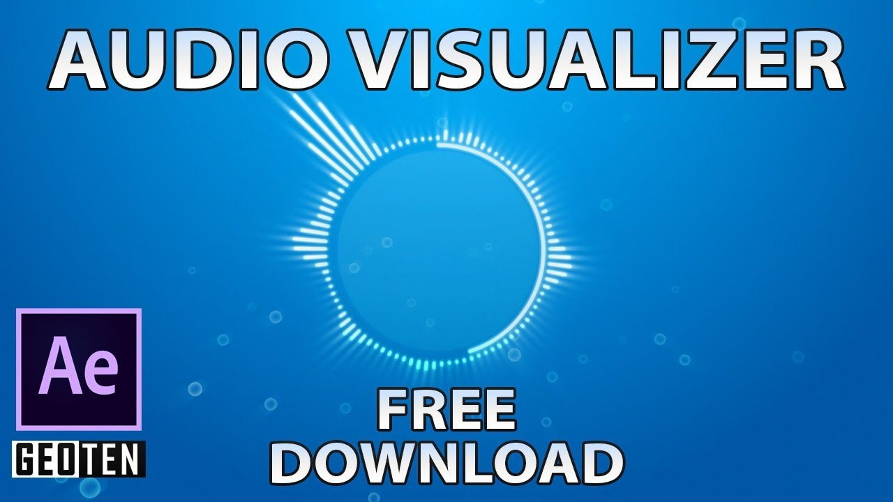 Audio Visualizer Template with Tutorial ( Free Download ) - After Effects