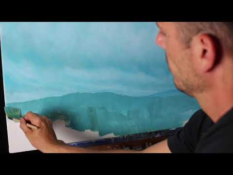 PART 2 – FULL LENGTH FREE PAINTING LESSON – TREE LINE – Tim Gagnon