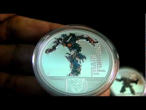 Transformers Silver Coins 1 oz Proof from Pert Mint.