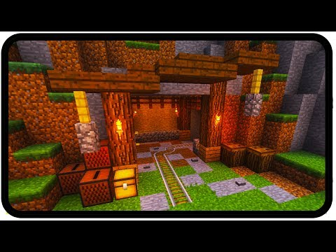 Minecraft: How To Make A Mineshaft Entrance (design)