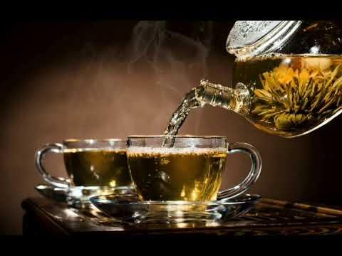 Живое фото (чайник,чашка,зелёный чай:)
