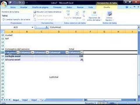Excel Crear Una Factura Videotutorialeses YouTube - Como hacer un invoice en la computadora