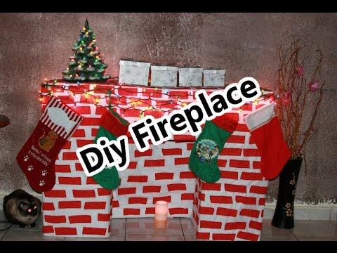 Christmas diy fireplace chimenea de navidad hazlo sola - Como se construye una chimenea ...