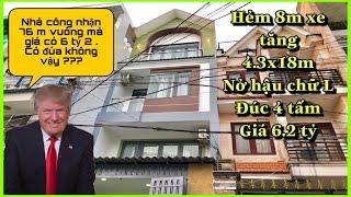 Bán nhà Gò Vấp 2019|nhà bán Gò Vấp|bán nhà tphcm|diện tích 4.3×18m|giá rẻ 6.2 tỷ