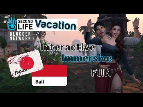 SECOND LIFE 2021 / Interactive & Immersive VIRTUAL VACATION | BALI & JAPAN #secondlife