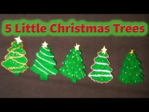 Christmas songs for children - 5 Little Christmas Trees - Littlestorybug