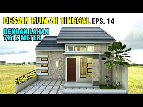 Desain Rumah Minimalis Ukuran 7x12 Meter  desain rumah 7x12 meter dengan 2 kamar tidur eps 014