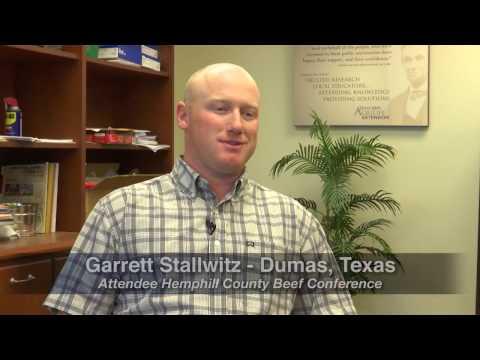 Garrett Stallwitz: Cattleman on 2017 Hemphill Beef Conference