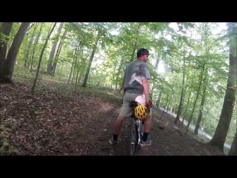 Mountain Biking at Tanglewood in Clemmons, North Carolina with a GoPro on April 26, 2013
