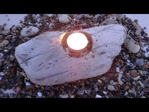 Make a Simple Driftwood Candle Holder - DIY Home - Guidecentral