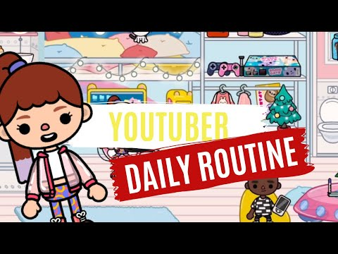 Youtuber DAILY ROUTINE | Toca Life