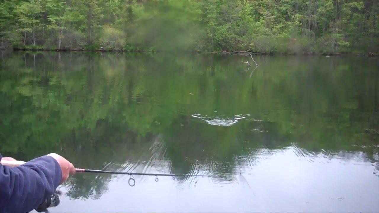 Fishing Oxford Furnace Lake - YouTube