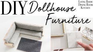 DIY Dollhouse Furniture part 1 ~ Relaxing DIY ~ Dollhouse Makeover Series (Video 4 of 6)