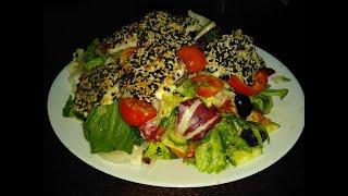 Греческий салат с жареным сулугуни!