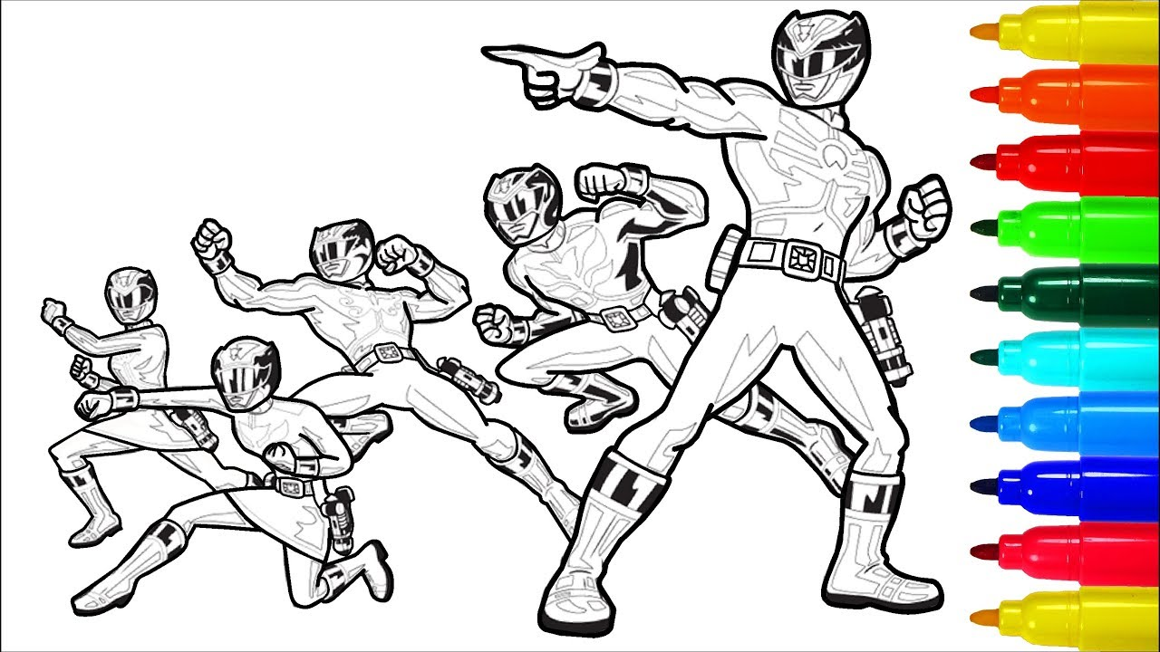 power rangers megaforce coloring pages # 7