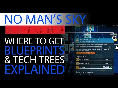 No Man's Sky Beyond Blueprints Guide   Tech Trees   Technology, Building & Crafted Trade Goods