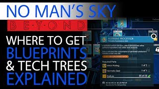 No Man's Sky Beyond Blueprints Guide | Tech Trees | Technology, Building & Crafted Trade Goods