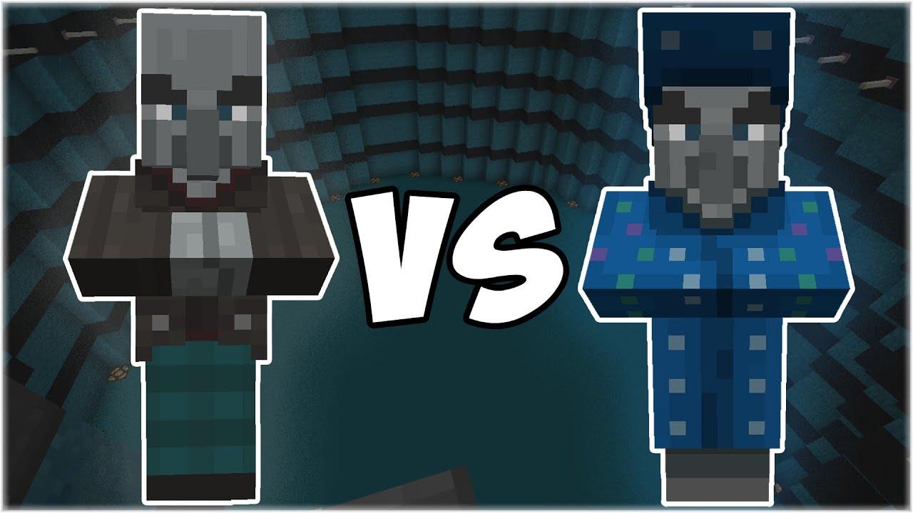 Vindicator vs Illusioner - Minecraft Mob Battle