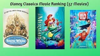 Disney Classics Movie Ranking {57 Movies}