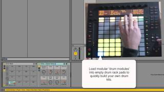 Synth Drums for Ableton Live 9 Push - Product Tutorial from Wave Alchemy