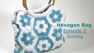 Spring 2018 - Hexagon Bag Episode 2 - Joining This tutorial was an exclusive tutorial for my Spring 2018 crochet kit. As I no longer sell kits I thought it would be ...