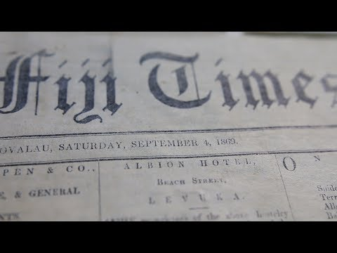 Fiji Times of 1869 Restored