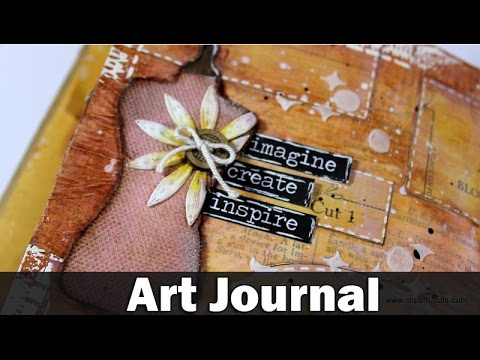 Mixed media art journal - style