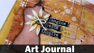 Mixed media art journal - style
