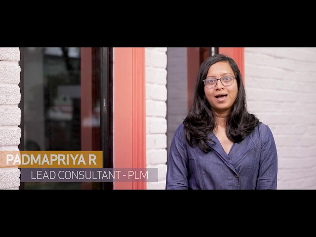 Padmapriya R, Lead Consultant – PLM reflects on what it's like to be part of a successful team