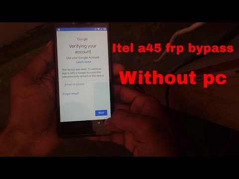 Itel A45 Frp Bypass Without Pc| How To Fix Itel A45 Frp Unlock Google Account