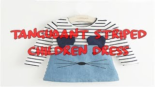 TANGUOANT Striped Children Dress   baby girl clothes review   best selling baby clothes review