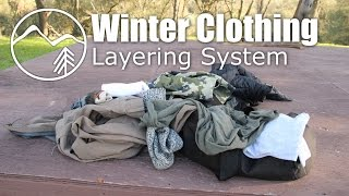 Winter Clothing Layering System for Backpacking - Mountain Venture