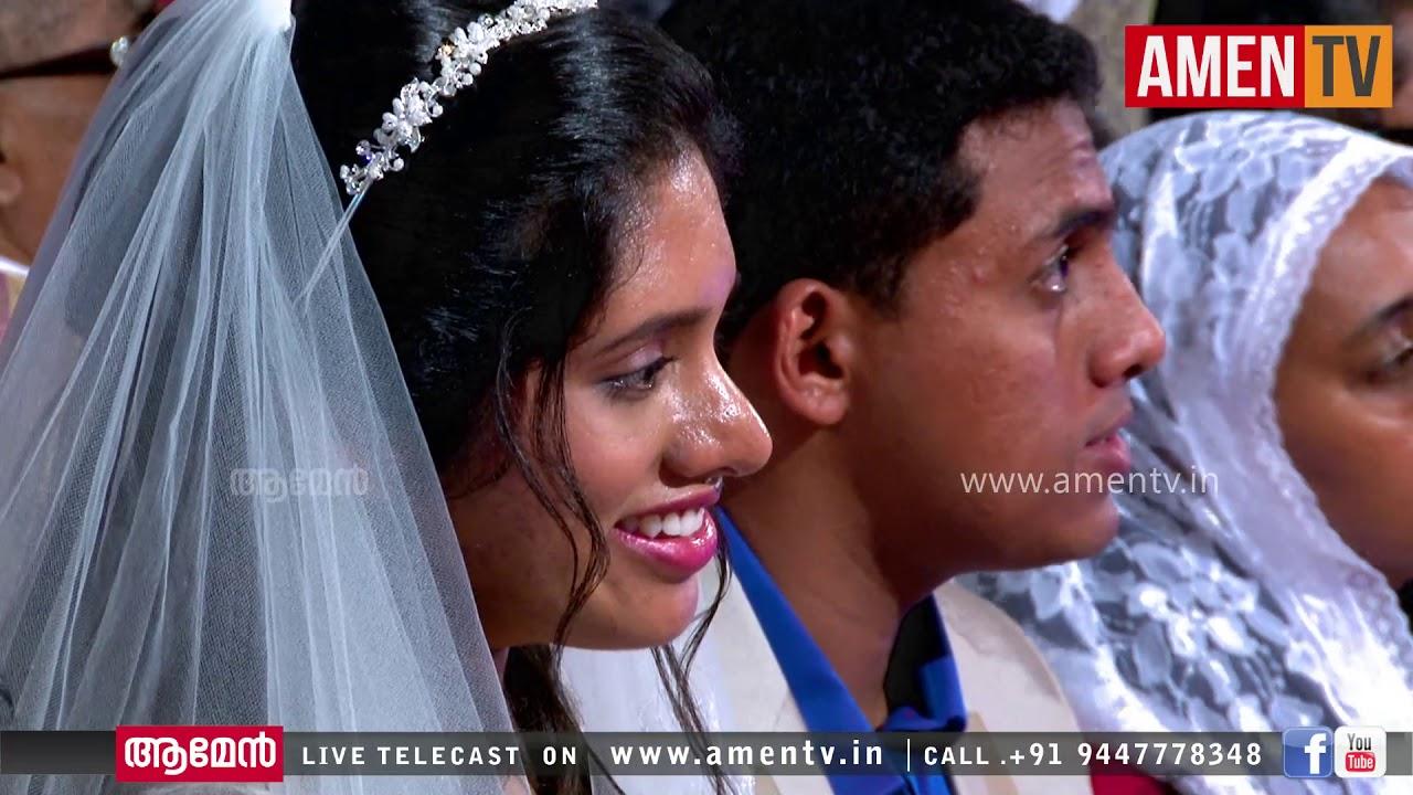 PRATHYASH & ASHLEY | WEDDING LIVE WEBCAST | 18.06.2018 _ AMEN TV