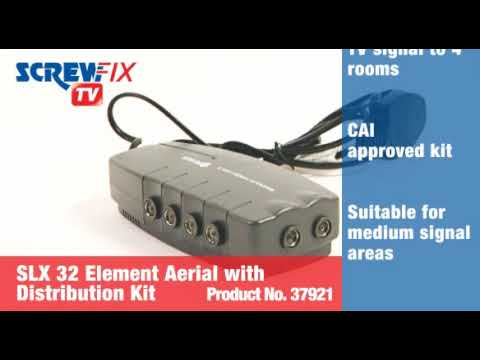 screwfix philex c10w s 32 element digital tv aerial with. Black Bedroom Furniture Sets. Home Design Ideas