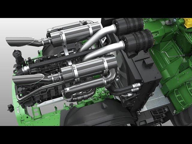 Zelfrijdende Veldhakselaar 9000-Serie | Animatie aandrijflijn - John Deere