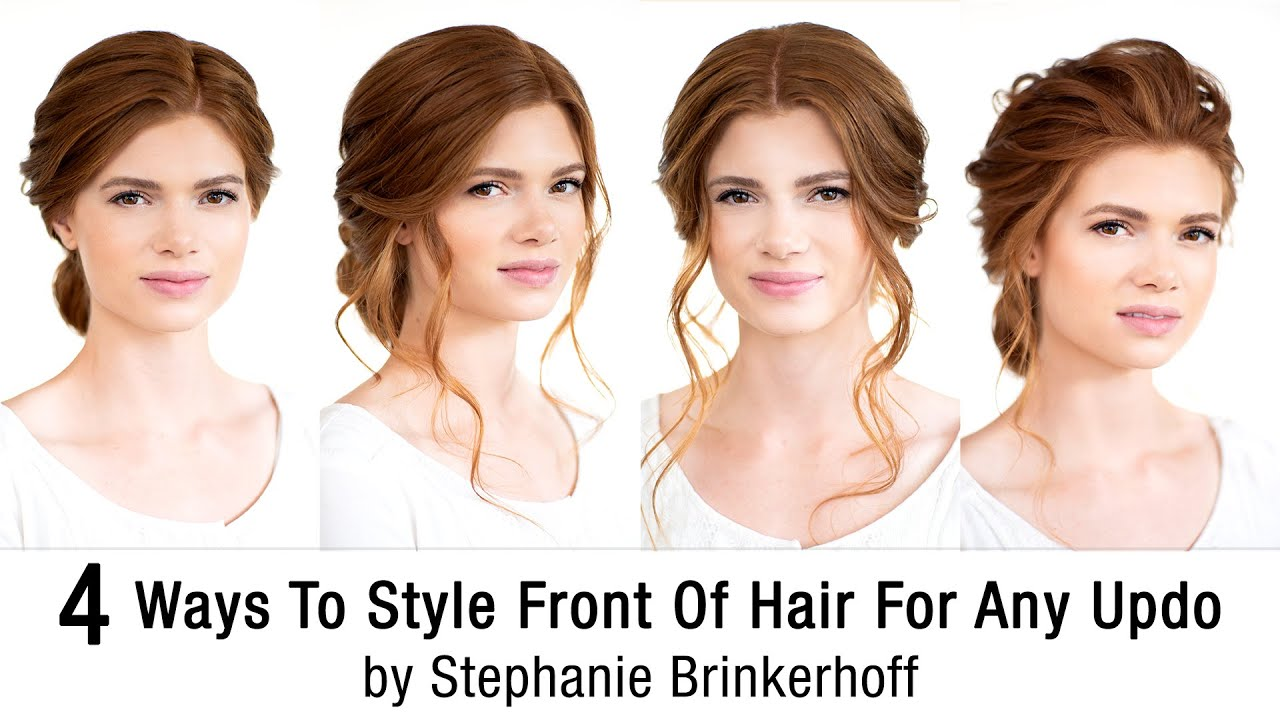 4 Ways To Style Front Of Hair For Any Updo | Bridal Upstyle Ideas by Stephanie Brinkerhoff | Kenra